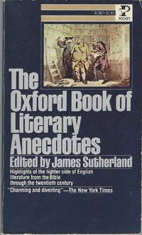 Oxford Book of Literary Anecdotes