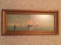 Knight Templar Fleet Watercolor Painting