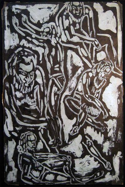 East Hampton Long Island New York: Not Published, 1955. Original artwork on paper, signed Rose Graub...