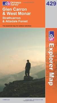 image of Glen Carron and West Monar (OS Explorer Map Series)