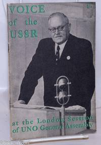 image of Voice of the USSR at the London Session of the General Assembly of the United Nations Organisation, January 16 - February 10, 1946