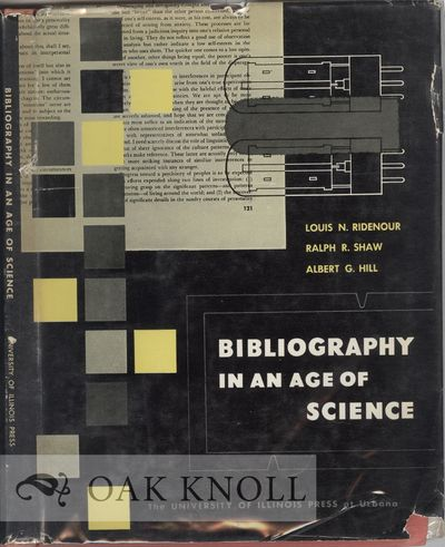 Urbana: University of Illinois Press, 1952. cloth, dust jacket. square 8vo. cloth, dust jacket. (vi)...