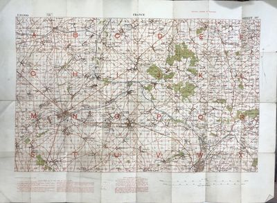 Lot of 29 France Ordnance Maps [WWI Era]
