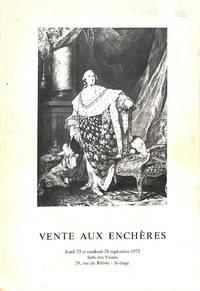 Vente 27 & 28 Septembre 1973: Gravures anciennes et modernes - Livres  anciens et modernes - Autographes. by ROSSET, Me CHRISTIAN - GENÈVE