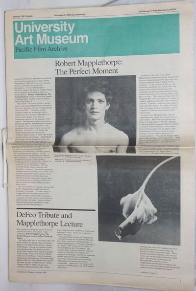 Berkeley: University of California, PFA, 1990. Newspaper. 12p. folded tabloid newspaper, Archive cal...