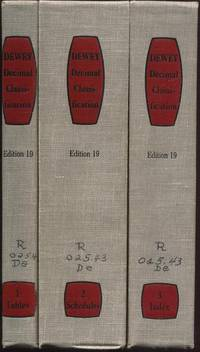 Dewey Decimal Classification & Relative Index, Edition 19