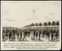 CELEBRATING PIONEER WOMENIN AVIATION HISTORYTHREE WORKS OFFERED TOGETHER Genuina descrizion de la discesa del ballon staa innalzaa la sira del 15 Agost, Alla presenza della R.I. Cort. De Madam Blanchart….