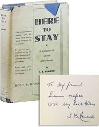 Here to Stay: A Collection of Jewish Short Stories [Inscribed & Signed]