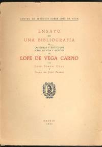 Ensayo de una bibliografía de las obras y artículos sobre la vida y escritos de Lope de Vega Carpio.