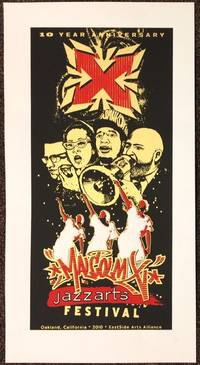 10 year anniversary / Malcolm X Jazzarts Festival [screenprint poster]
