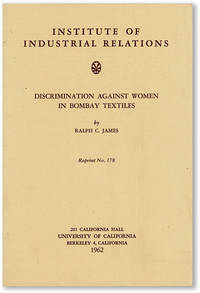 Discrimination Against Women in Bombay Textiles. Reprinted from Industrial and Labor Relations Review Vol 15, no.2, January 1962