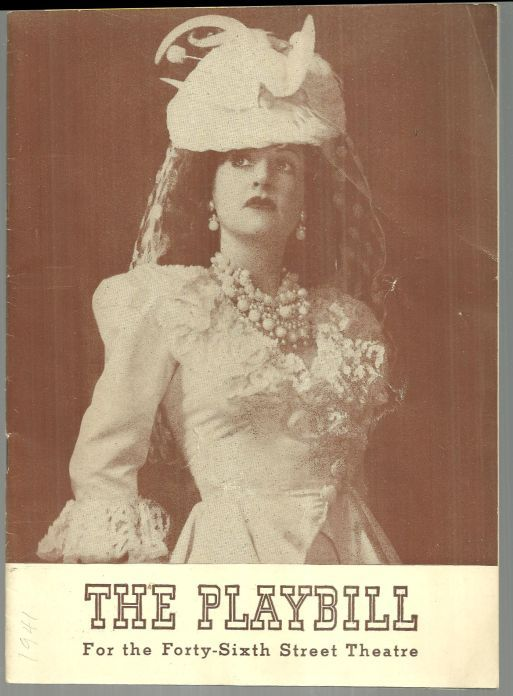ETHEL MERMAN IN PANAMA HATTIE AUGUST 25, 1941, Playbill