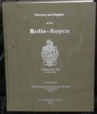 The Directory and Register of the Rolls-Royce Phantom III Motor Car