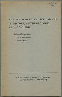 image of The Use of Personal Documents in History, Anthropology and Sociology