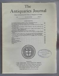 The Antiquaries Journal, Being the Journal of The Society of Antiquaries of London, Volume XLVIII, 1968, Part II
