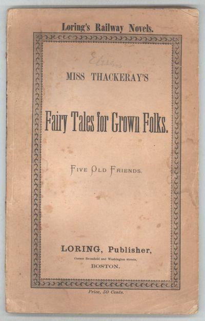 Boston: Loring, 1871. Octavo, pp. 3-115 , double columns, original tan paper wrappers printed in bla...