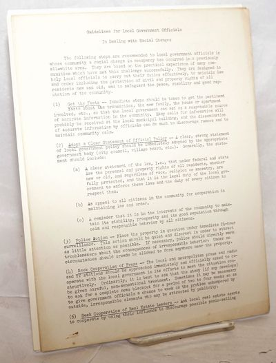 Chicago: American Friends Service Committee, 1963. handbill leaflet. Single sheet, 8.5x11 inches, mi...
