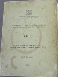 Department of Bantu Education  -  Zulu -  Terminology and Orthography No.2