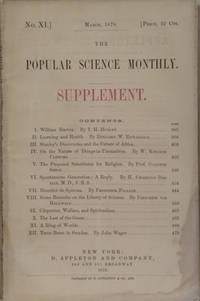 The Popular Science Monthly Supplement (No. XI, March, 1878)