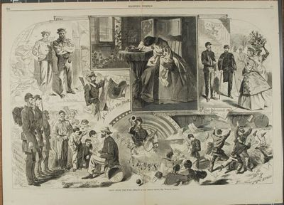 Fine Condition. Original wood engraving from Harper's Weekly, June 14, 1862. Sheet measures 22 by 16...