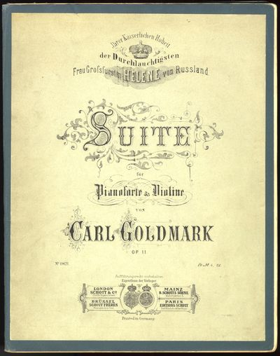 Mainz: B. Schotts Söhne , 1880. Folio. Sewn. Original publisher's green printed wrappers laid down ...