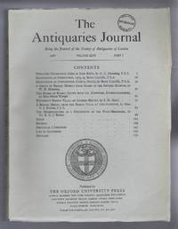 The Antiquaries Journal, Being the Journal of The Society of Antiquaries of London, Volume XLVI, 1966, Part I