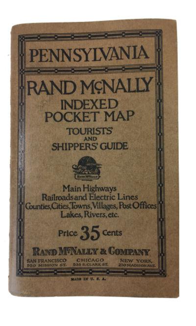San Francisco, Chicago, New York: Rand McNally & Company, 1925. Paperback. Very Good. Large folding ...