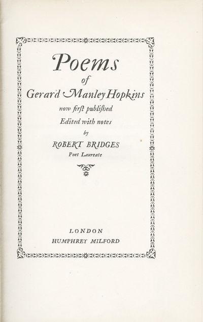 London (Humphrey Milford), 1918.. (8), 124pp. 2 portrait plates, 2 double-page facsimiles, 2 facsimi...