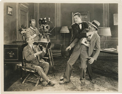 Culver City, CA: Hal Roach Studios, 1925. Vintage promotional reference photograph of comedian Charl...