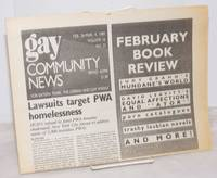 image of GCN: Gay Community News; the weekly for lesbians and gay males; vol. 16, #32, February 26 - March 4, 1989; Lawsuits traget PWA homelessness