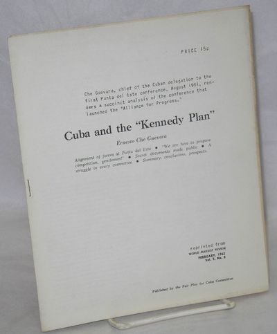 New York: The Fair Play for Cuba Committee, 1962. Pamphlet. , wraps slightly browned on the edges el...