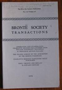 image of Brontë Society Transactions 1978 Part 88 Volume 17 Number 3