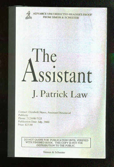 New York: Simon & Schuster, 2000. Softcover. Fine. First edition, Uncorrected proof. Fine in white w...