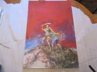 (Science Fiction Art) Untitled Original Painting Of A Heroic Female Warrior