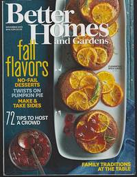 BETTER HOMES AND GARDENS MAGAZINE NOVEMBER 2015 by Better Homes and Gardens - 2015 - from Gibson's Books (SKU: 80253)