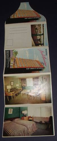 image of 1950s Hotel Monte Cassino Mexico City Folding Advertising Postcard Color Illustrated
