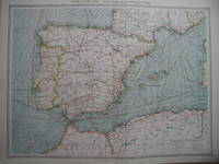 Spain & Portugal, Industries & Communications. by Map - from N. G. Lawrie Books. (SKU: 28831)