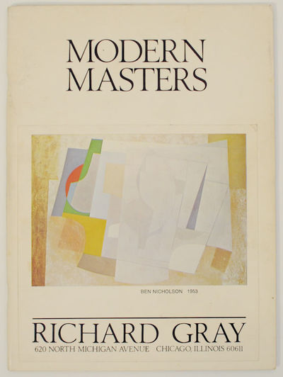 Chicago, IL: Richard Gray Gallery, 1975. First edition. Softcover. 16 pages. Exhibition catalog for ...