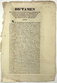 Dictamen de la Comision de Hacienda del Congreso Honorable del Estado, al Presentar el Plan de Contribuciones, e Impuestos para Subvenir a los Gastos del Estado, en el Año de 1828 [caption title]