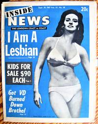 image of Kids for Sale $90 Each. Article in Inside News. the Lowdown Coast to Coast, Sept. 24, 1967. (Sleaze Newspaper).