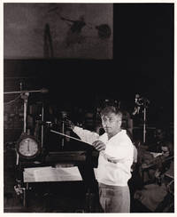 image of Original photograph of Elmer Bernstein recording the soundtrack to The Man with the Golden Arm, circa 1956
