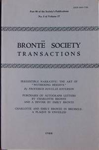 image of Brontë Society Transactions 1980 Part 90 Volume 17 Number 5