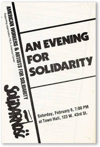 An Evening for Solidarity - Saturday, February 6, 7:00 PM at Town Hall, 123 W. 43rd St