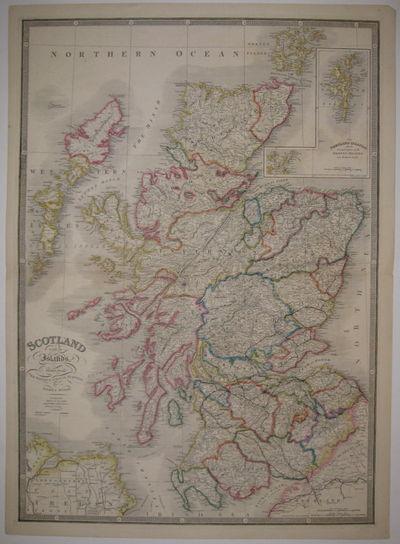 London: James Wyld, 1850. unbound. very good(+). Map. Engraving with original color outline. Image m...