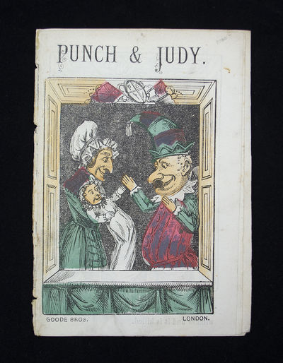 Rare Illustrated Punch and Judy Pamphlet . Punch & Judy. London: Goode Bros. Unbound pamphlet, issue...