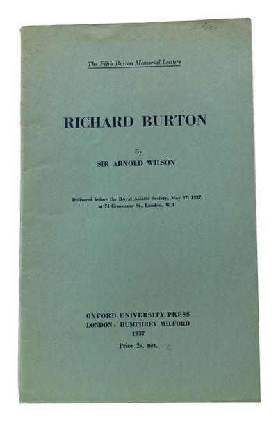 London: Oxford University Press, 1937. 1st ed. Paperback. Near Fine. 37, p. Original wrapper. 25cm. ...