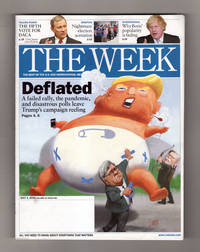 """image of The Week - July 3, 2020. """"Deflated"""". Faiiled Rally, Covid-19 Pandemic, Disastrous Polls; John Bolton's Revelations; Police Reform Bill; Padma Lakshmi; Bob Dylan; What Can Go Wrong on Election Day?; Matt Gaffney Crossword, """"Safe Choices"""""""