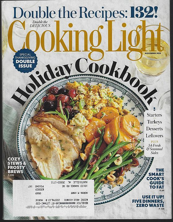 COOKING LIGHT MAGAZINE NOVEMBER 2015, Cooking Light