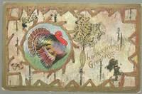 THANKSGIVING GREETINGS GOLD POSTCARD WITH TURKEY by Postcard - N.D. - from Gibson's Books (SKU: 60079)