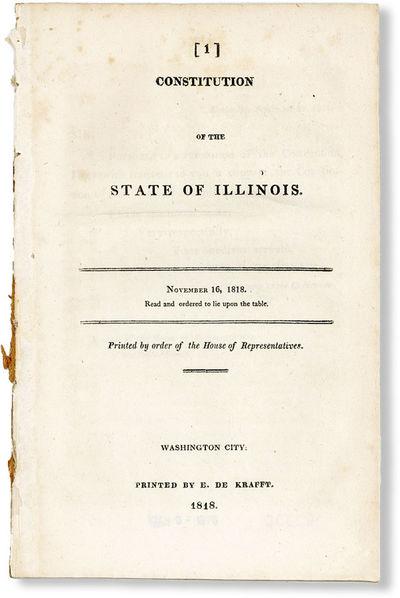 Washington City: E. De Krafft, 1818. Second Edition. Paperback. Octavo (ca. 23cm.); disbound; 24pp. ...